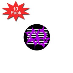 Purple abstraction 1  Mini Buttons (10 pack)