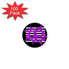 Purple abstraction 1  Mini Buttons (100 pack)