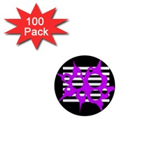 Purple abstraction 1  Mini Magnets (100 pack)