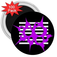 Purple abstraction 3  Magnets (100 pack)