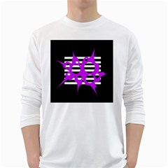 Purple abstraction White Long Sleeve T-Shirts