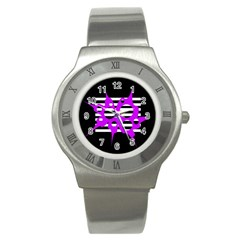 Purple abstraction Stainless Steel Watch