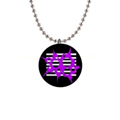 Purple abstraction Button Necklaces
