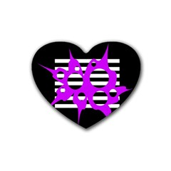 Purple abstraction Heart Coaster (4 pack)