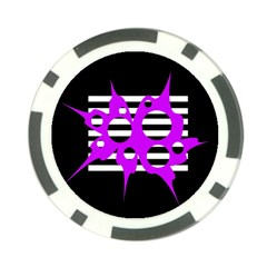Purple abstraction Poker Chip Card Guards (10 pack)