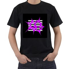 Purple abstraction Men s T-Shirt (Black)
