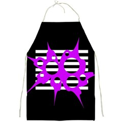 Purple abstraction Full Print Aprons