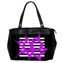 Purple abstraction Office Handbags (2 Sides)