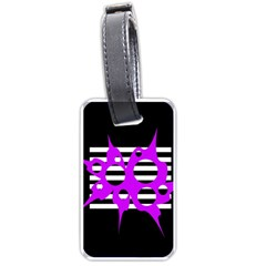 Purple abstraction Luggage Tags (Two Sides)