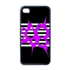 Purple abstraction Apple iPhone 4 Case (Black)