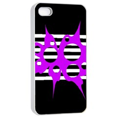 Purple abstraction Apple iPhone 4/4s Seamless Case (White)