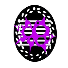 Purple abstraction Oval Filigree Ornament (2-Side)