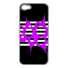 Purple abstraction Apple iPhone 5 Case (Silver)