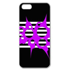 Purple abstraction Apple Seamless iPhone 5 Case (Clear)