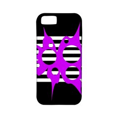 Purple abstraction Apple iPhone 5 Classic Hardshell Case (PC+Silicone)