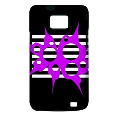 Purple abstraction Samsung Galaxy S II i9100 Hardshell Case (PC+Silicone)