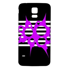 Purple abstraction Samsung Galaxy S5 Back Case (White)