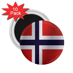 Flag Of Norway 2.25  Magnets (10 pack)
