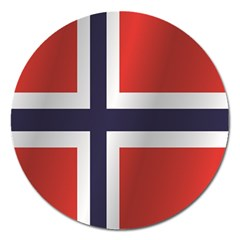 Flag Of Norway Magnet 5  (Round)