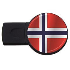 Flag Of Norway USB Flash Drive Round (4 GB)