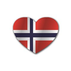 Flag Of Norway Rubber Coaster (Heart)