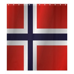 Flag Of Norway Shower Curtain 66  x 72  (Large)