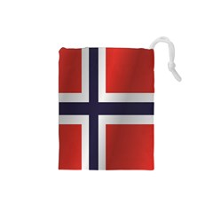 Flag Of Norway Drawstring Pouches (Small)