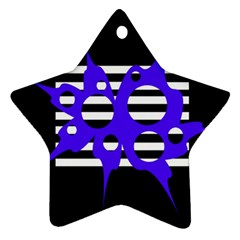 Blue abstract design Ornament (Star)