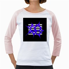 Blue abstract design Girly Raglans
