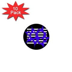 Blue abstract design 1  Mini Buttons (10 pack)