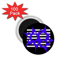 Blue abstract design 1.75  Magnets (100 pack)