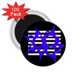 Blue abstract design 2.25  Magnets (100 pack)