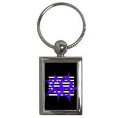 Blue abstract design Key Chains (Rectangle)