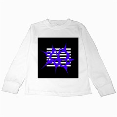 Blue abstract design Kids Long Sleeve T-Shirts
