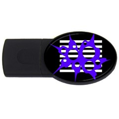 Blue abstract design USB Flash Drive Oval (4 GB)