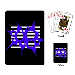 Blue abstract design Playing Card