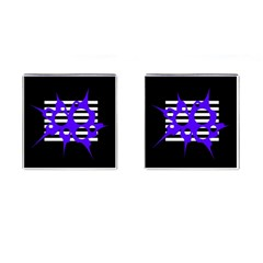 Blue abstract design Cufflinks (Square)