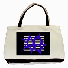 Blue abstract design Basic Tote Bag
