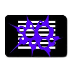 Blue abstract design Plate Mats
