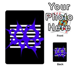 Blue abstract design Multi-purpose Cards (Rectangle)