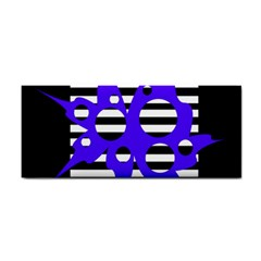 Blue abstract design Hand Towel