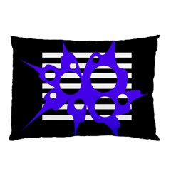 Blue abstract design Pillow Case