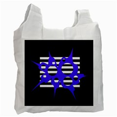 Blue abstract design Recycle Bag (Two Side)