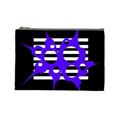 Blue abstract design Cosmetic Bag (Large)