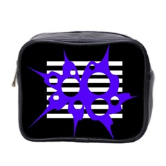 Blue abstract design Mini Toiletries Bag 2-Side