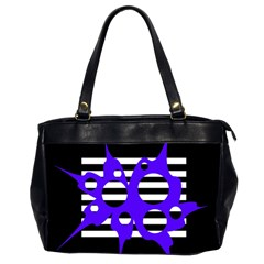 Blue abstract design Office Handbags (2 Sides)