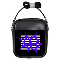 Blue abstract design Girls Sling Bags