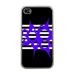 Blue abstract design Apple iPhone 4 Case (Clear)