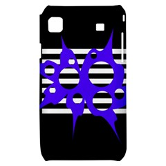 Blue abstract design Samsung Galaxy S i9000 Hardshell Case