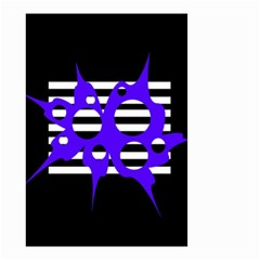 Blue abstract design Small Garden Flag (Two Sides)